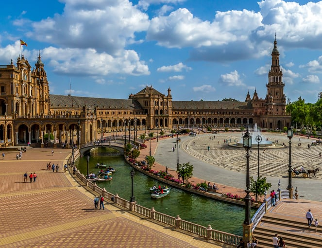 כיכר בסביליה ספרד